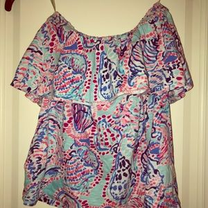 Strapless Lilly Pulitzer top